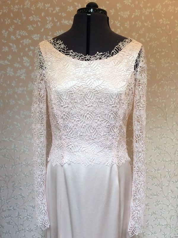James Hare lace overlay