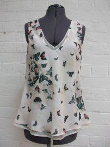 bespoke fashion bias silk top