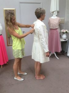 mother of the bride fitting
