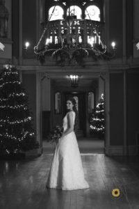 Grittleton house winter wedding dress