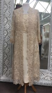 Champagne lace overlay