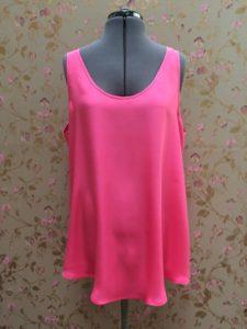Pink silk cami